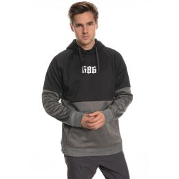 686 MNS LINK BONDED FLEECE PULLOVR BLACK COLORBLOCK 20