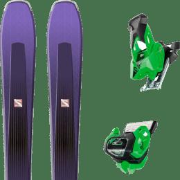 Pack ski+fix SALOMON SALOMON AIRA 84 TI PURPLE/BLACK 20 + TYROLIA ATTACK² 13 GW GREEN W/O BRAKE 19 - Ekosport