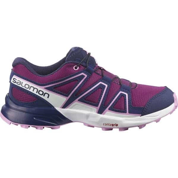 SALOMON Chaussure trail Speedcross J Plum Caspia/evening Blue/orchid Enfant Rose/Violet taille 33