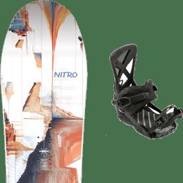 BU Ski Alpin NITRO NITRO SANTOKU 21 + NITRO PHANTOM CARVER ULTRA BLACK 21 - Ekosport