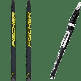 Pack esqui FISCHER FISCHER AEROLITE SKATE 70 22 + SALOMON SNS PILOT RS BLACK/WHITE 21 + SALOMON IFP ADAPTOR PLATE 21 - Ekosport