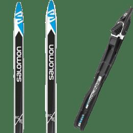 Ski de fond SALOMON SALOMON XC SKIS RC JUNIOR SKIN 19 + SALOMON PROLINK RACE JR CL 20 - Ekosport