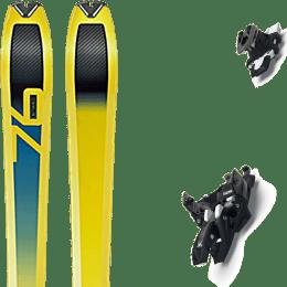Ski randonnée DYNAFIT DYNAFIT SPEED 76 19 + MARKER ALPINIST 10 LONG TRAVEL BLACK-TITANIUM 22 - Ekosport