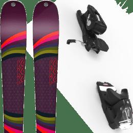 Pack ski alpin K2 K2 MISSCONDUCT + LOOK NX 12 GW B90 BLACK - Ekosport