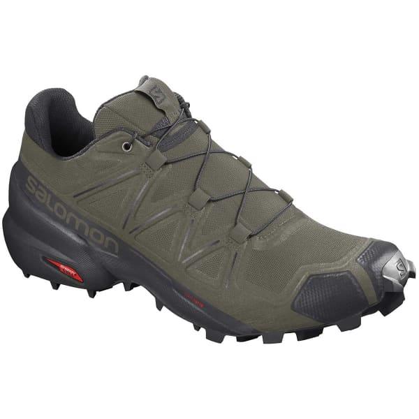 SALOMON Chaussure trail Speedcross 5 Grape Leaf/black/phantom Homme Vert taille 8.5