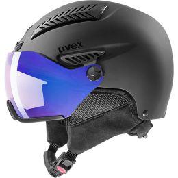 Casque ski UVEX UVEX HLMT 600 VISOR V BLACK MAT 21 - Ekosport