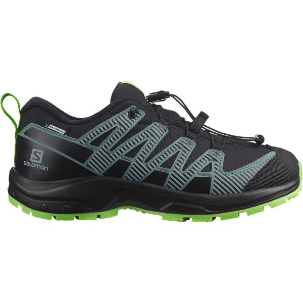 SALOMON Chaussure trail Xa Pro V8 Cswp Jr Black/black/green Enfant Noir/Vert taille 33