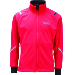 SWIX CROSS JACKET CURVED JR RED 20