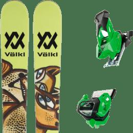 Pack ski alpin VOLKL VOLKL REVOLT 87 22 + TYROLIA ATTACK² 13 GW GREEN W/O BRAKE 19 - Ekosport