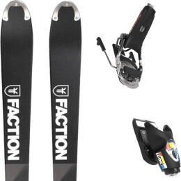 Pack ski alpin FACTION FACTION MOGUL 19 + LOOK PIVOT 18 GW B75 BLACK/ICON 22 - Ekosport