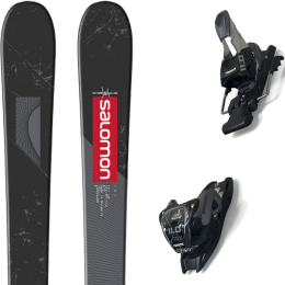 SALOMON TNT BLACK/GREY/RED 20 + MARKER 11.0 TCX BLACK/ANTHRACITE 20