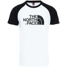 THE NORTH FACE SS RAGLAN EASY TEE WHITE BLACK 21