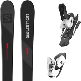 SALOMON TNT BLACK/GREY/RED 21 + SALOMON Z12 B100 WHITE/BLACK 21