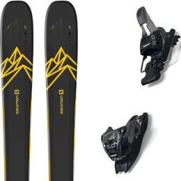 Boutique SALOMON SALOMON QST 92 DARK BLUE/YELLOW 20 + MARKER 11.0 TCX BLACK/ANTHRACITE 20 - Ekosport