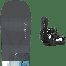 Snowboard AMPLID AMPLID PARADIGMA 21 + UNION FORCE BLACK 21  - Ekosport