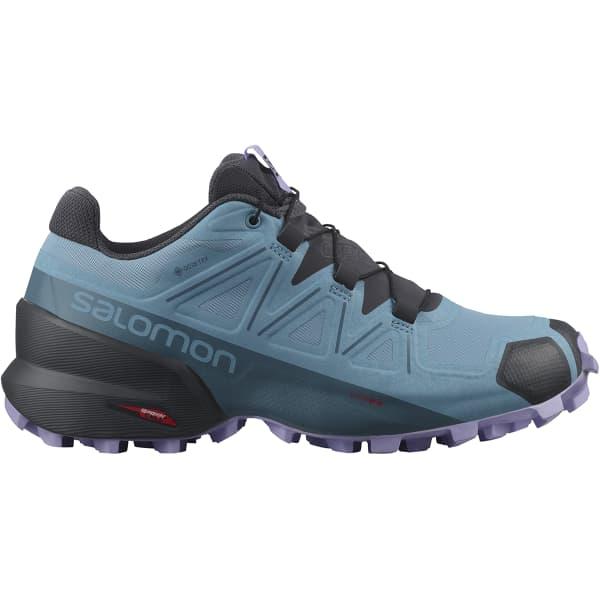SALOMON Chaussure trail Speedcross 5 Gore-tex W Delphinium Blue/mallard Blue/lavender Femme Bleu taille 3.5