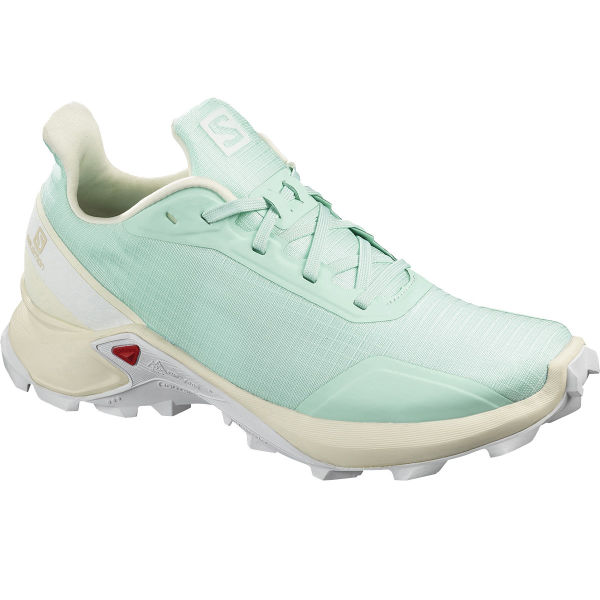 SALOMON Chaussure trail Alphacross W Icy Morn/vanilla/wht Femme Vert/Blanc/Beige taille 4