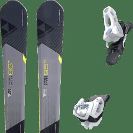 Pack ski alpin FISCHER FISCHER PRO MTN 95 TI 17 + TYROLIA ATTACK² 11 GW BRAKE 100 [L] SOLID WHITE NAVY 20 - Ekosport
