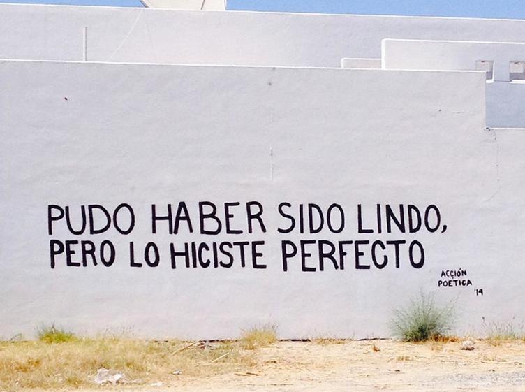Frases de Acción Poética en Español (Latinoamericana) - Pudo haber sido lindo, pero lo hiciste perfecto.