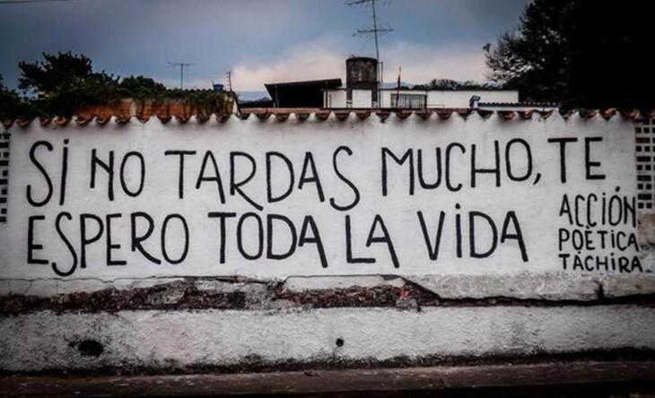 Frases de Acción Poética en Español (Latinoamericana) - Si no tardas mucho, te espero toda la vida