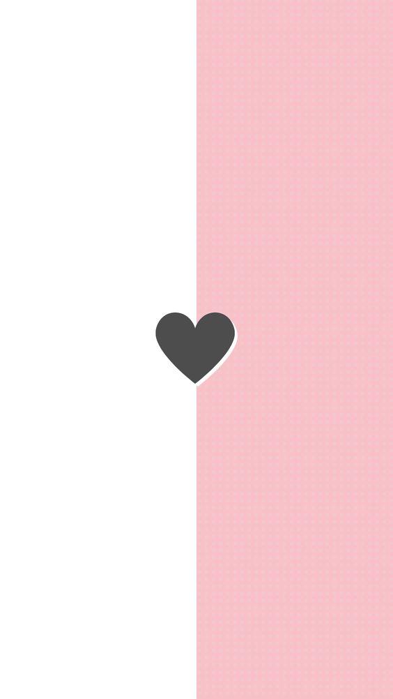 Fondos de Pantalla con Frases - Wallpaper corazón en rosa