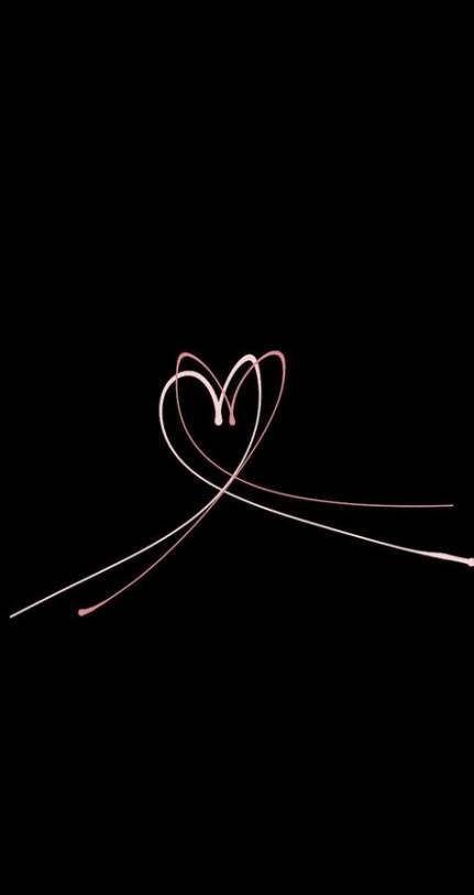 Fondos de Pantalla con Frases - Wallpaper corazón en negro