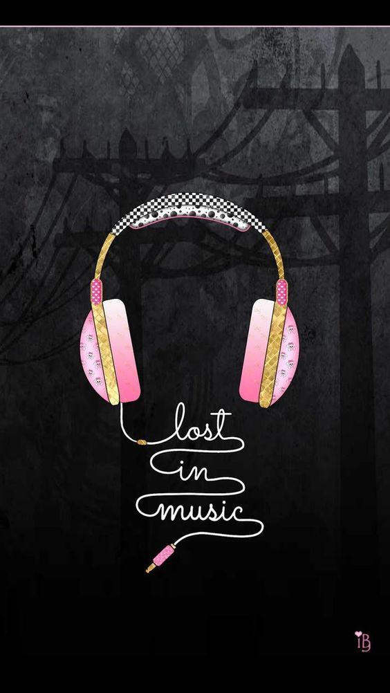 Fondos de Pantalla con Frases - Perdida en la música