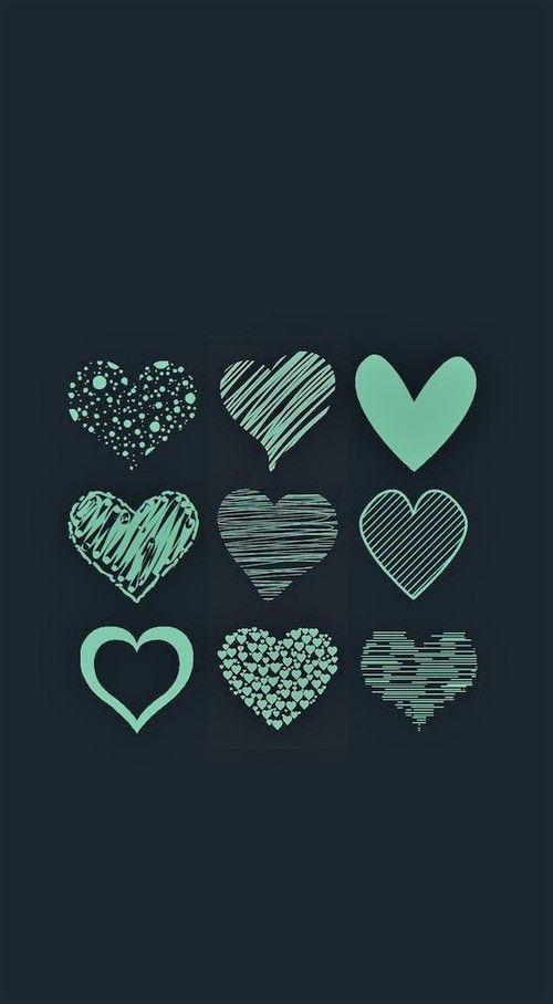 Fondos de Pantalla con Frases - Hearts in black (Wallpaper)