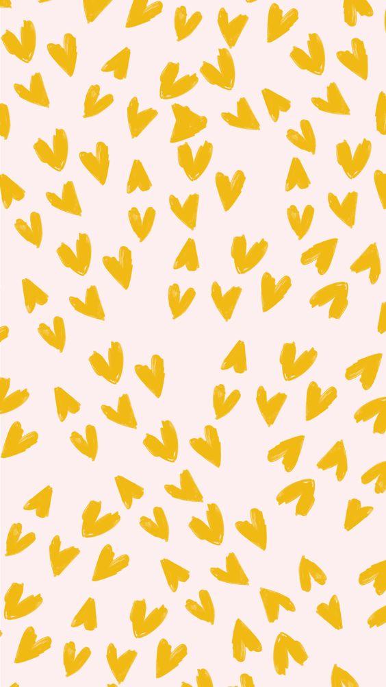 Fondos de Pantalla con Frases - Yellows Hearts (Wallpaper)