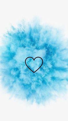 Fondos de Pantalla con Frases - Corazón en azul