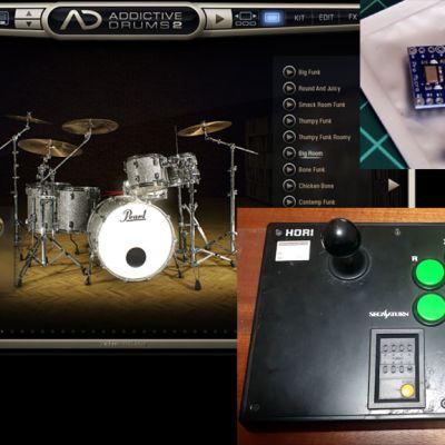ジョイスティックでフィンガードラム / ArduinoでMIDIデバイス作成
