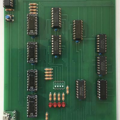 4bitの自作CPU