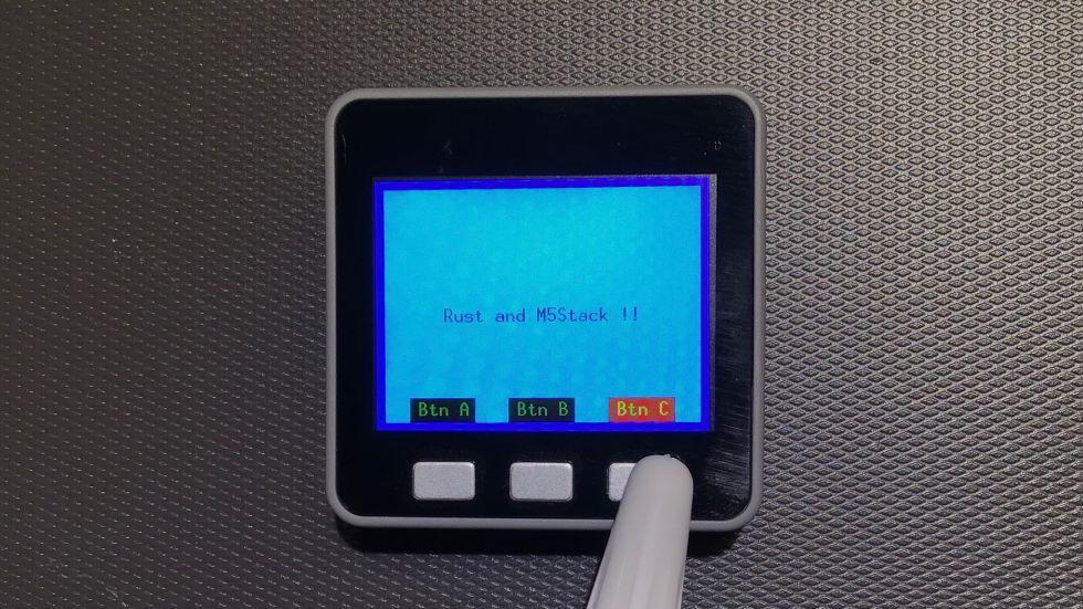 [作業メモ] M5StackでRustのコードを実行する (2021-10-01)