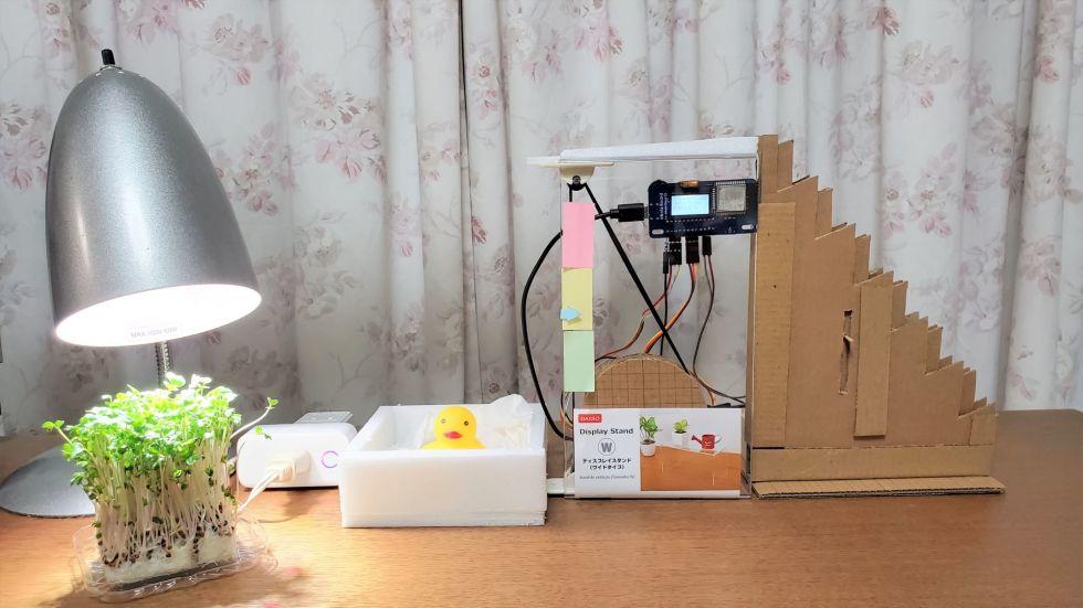 Co2濃度アラートと植物育成ライトで光合成