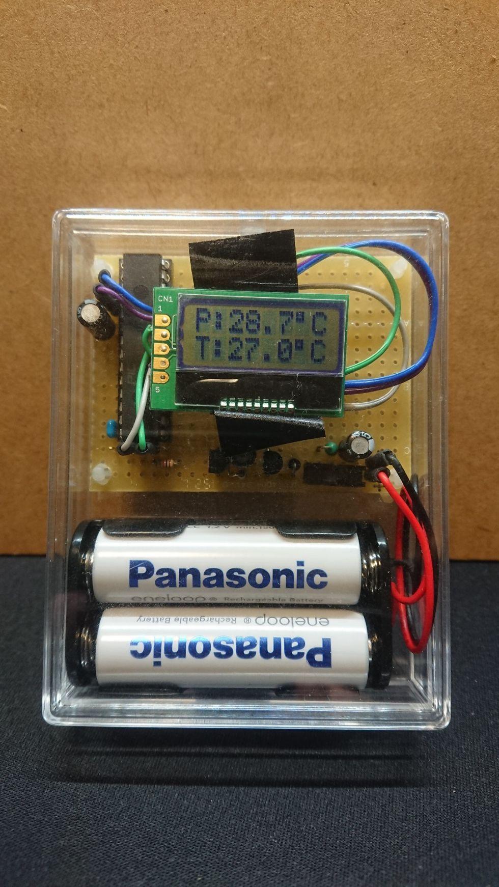 秋月サーモパイルで非接触温度計を作った