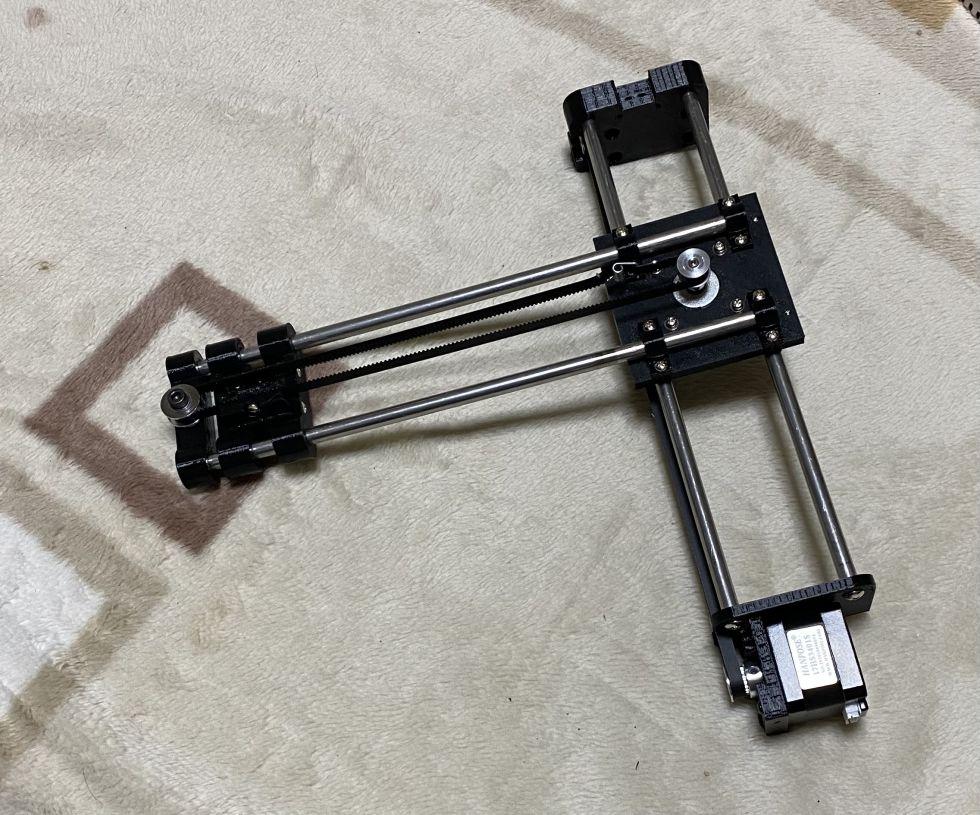 IchigoJamで動くGrbl制御のペンプロッタを作ってみた。