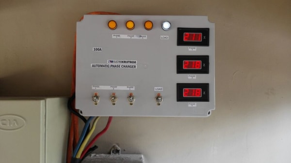 100A Automatic Phase Changer - Replace Mains Cutouts Automatically