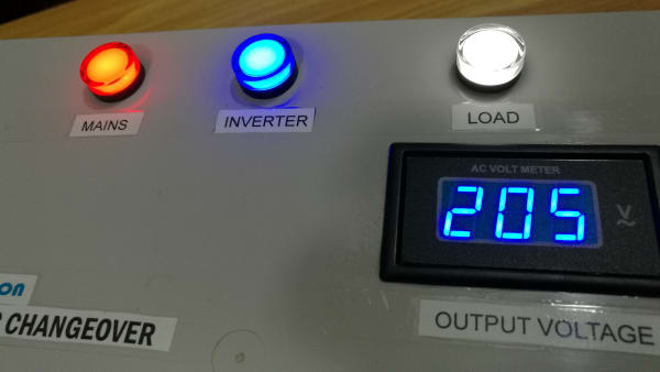 100A Single Phase Inverter / Mains Automatic Transfer Switch