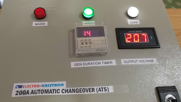 200A Automatic Changeover, Steel Enclosure ATS
