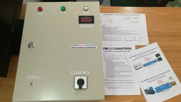100A Automatic Changeover For 2 Power Sources, 3 Phase, Steel Enclosure
