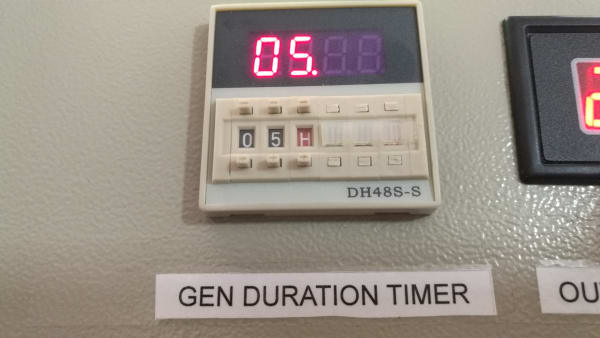 200A ATS Mini Panel with both Gen Duration (Run-time) and Gen Scheduling Timers