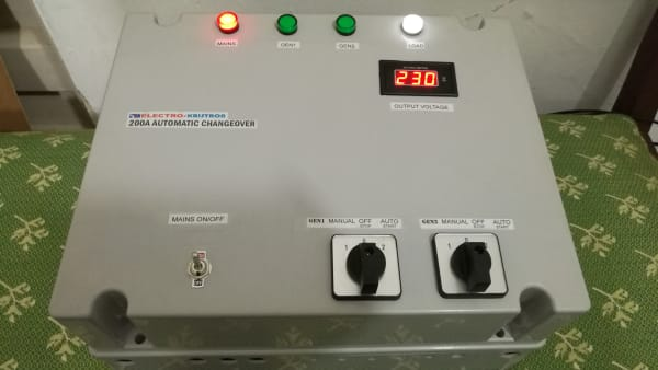 200A Automatic Changeover for Mains and 2 Generators