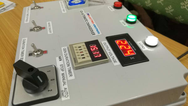 32A Automatic Changeover Switch with Gen Control Timers for Single Gen and Mains
