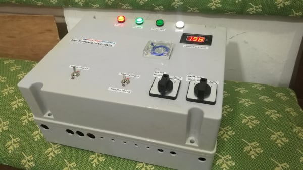 100A Automatic Changeover Unit for Mains, Big Gen and Small Gen, with Gen Scheduling Timer