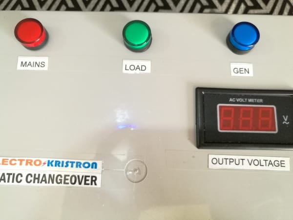 100A 3-Phase or 1-Phase Automatic Changeover for 2 Power Sources - Generic, Plastic Enclosure