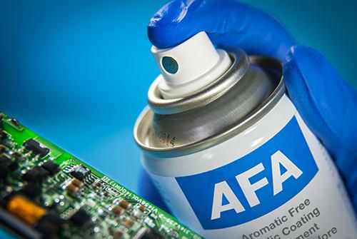 AFA optically clear conformal coating
