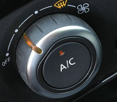Controls in a car