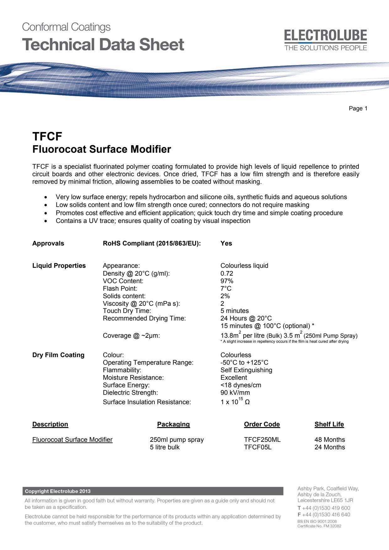 TFCF  Fluorocoat Surface Modifier Thumbnail