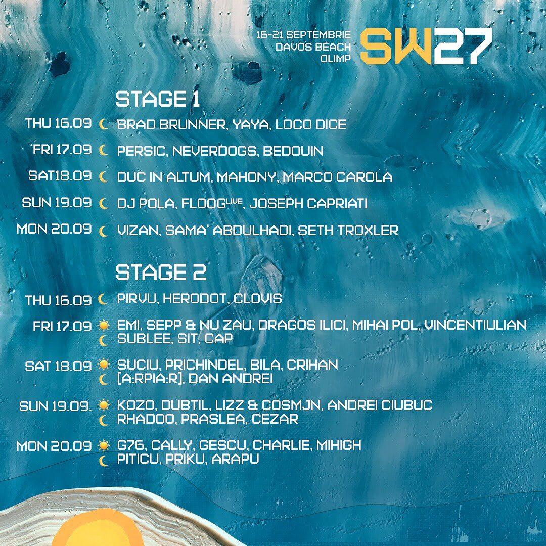 Line up Sunwaves 27