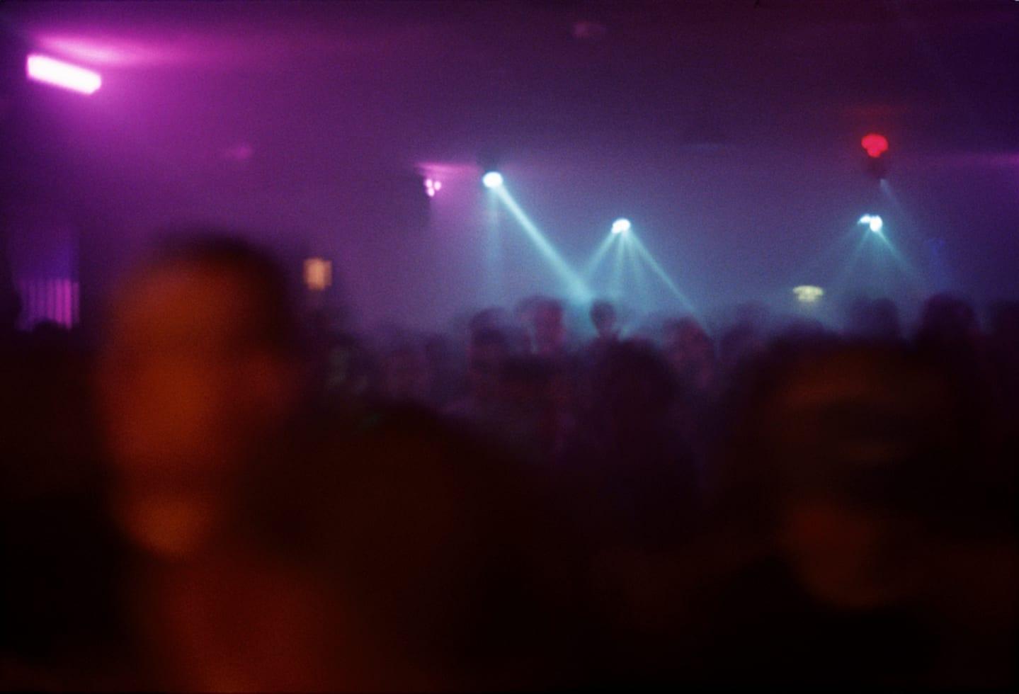 Violet dance floor in Berlin